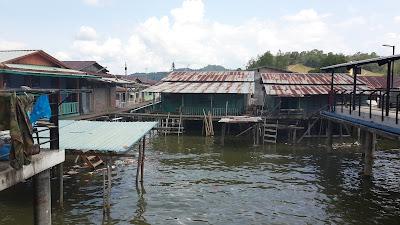 Keadaan rumah Kampung Ayer Brunei Darussalam
