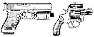 Варианты крепления лазерных целеуказателей на оружии