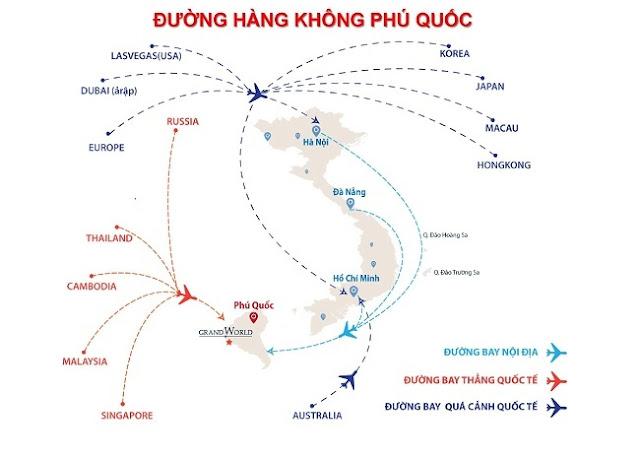 Liên kết hàng không Condotel Grand World Phú Quốc