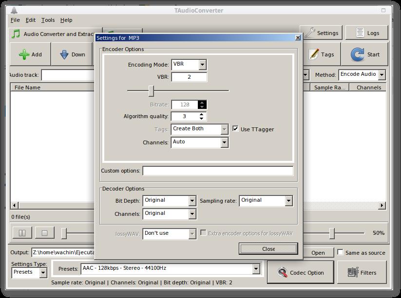 Cómo comprimir colecciones de mp3 con TAudioConverter