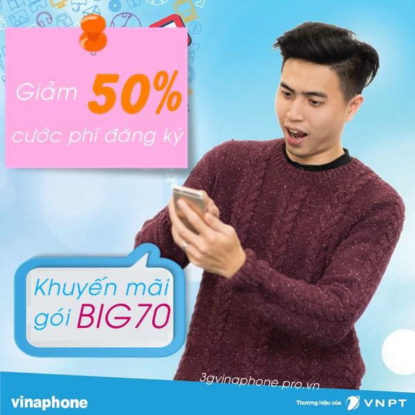 Khuyến mãi giảm 50% cước đăng ký gói BIG70