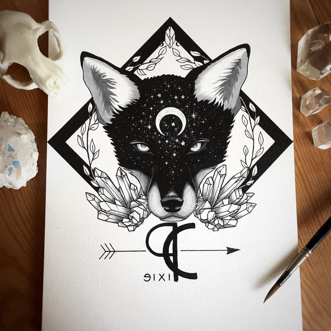 12-My-new-logo-Pixie-Cold-Fantasy-Animals-in-Different-Style-Drawings-www-designstack-co