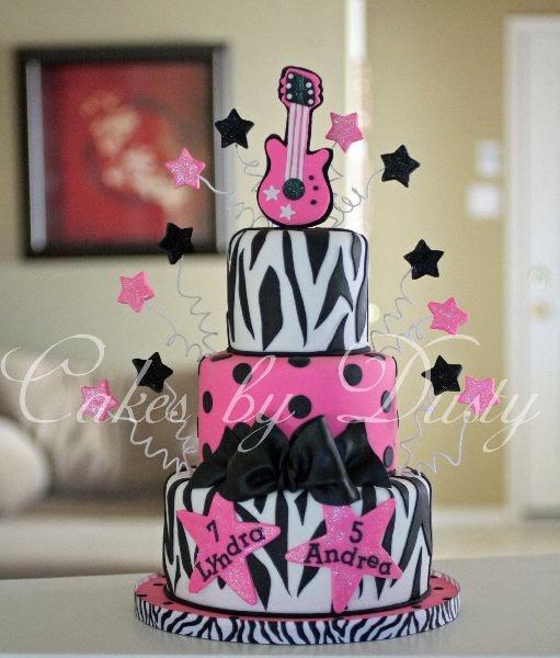 Duel Birthday Decor Zebra Barbie And Princess Themes: Cakes By Dusty: Lyndra & Andrea's Birthday Cake