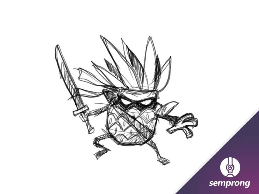 membuat gambar vekor karakter komik di inkscape
