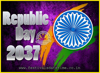 2037 Republic Day of India Date, 2037 Republic Day Calendar