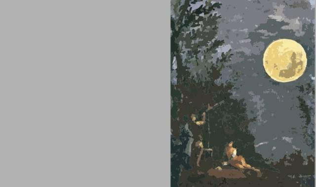 Personen und Mond-  Gedichte