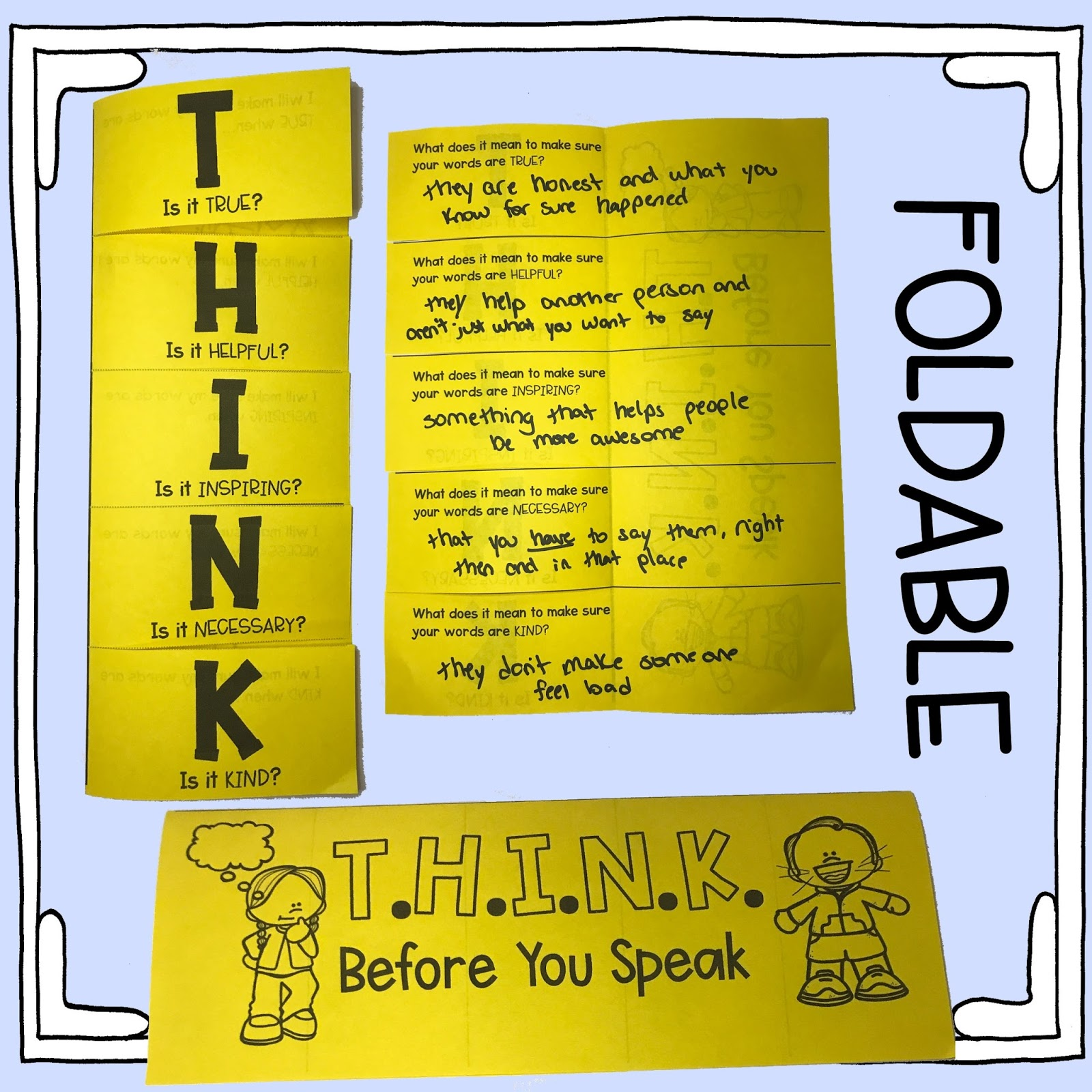 Think Before You Speak Lesson Plan