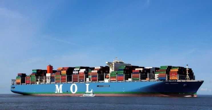 Mol Triumph yük taşıma kapasitesi son derece fazla olan bir gemidir.