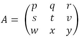 Skema Metode Sarus pada matriks