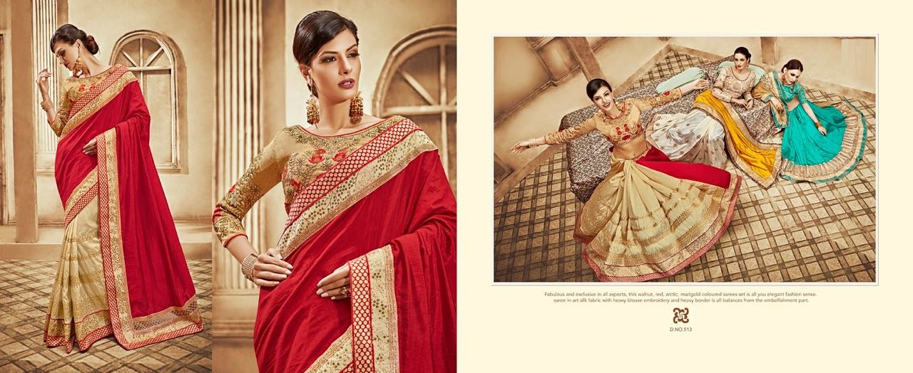 Zoya Vol 2-Designer Heavy Georgette With Lace Border Saree