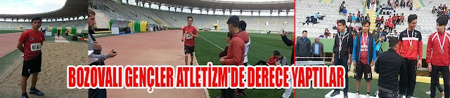 Bozovalı gençler atletizm'de derece yaptı