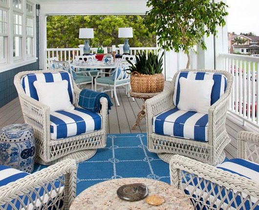 White Outdoor Wicker Seating With Coastal Flair Shop The