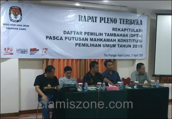 Terjadi Tambahan 3.923 Pemilih, DPT Ciamis Tidak Berubah