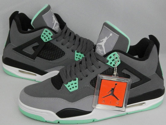 newest 5a2ac 10620 Air Jordan 4 Retro Dark Grey Green Glow-Cement Grey-Black Available Early  On eBay
