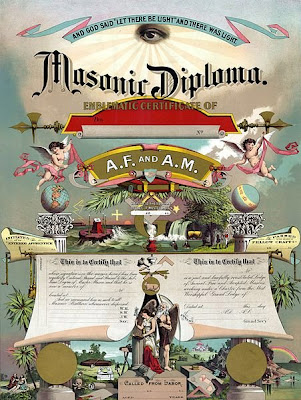 Freemasons Masonic Diploma