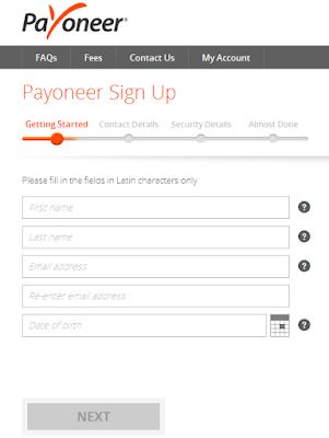 cara membuat akun payoneer gratis