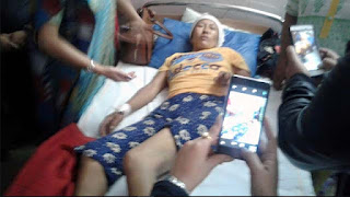 unknown woman beaten up by bijanbari police