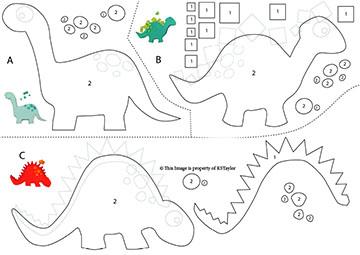 Feltro E Botoes Dinossauros Em Feltro Moldes Para Baixar