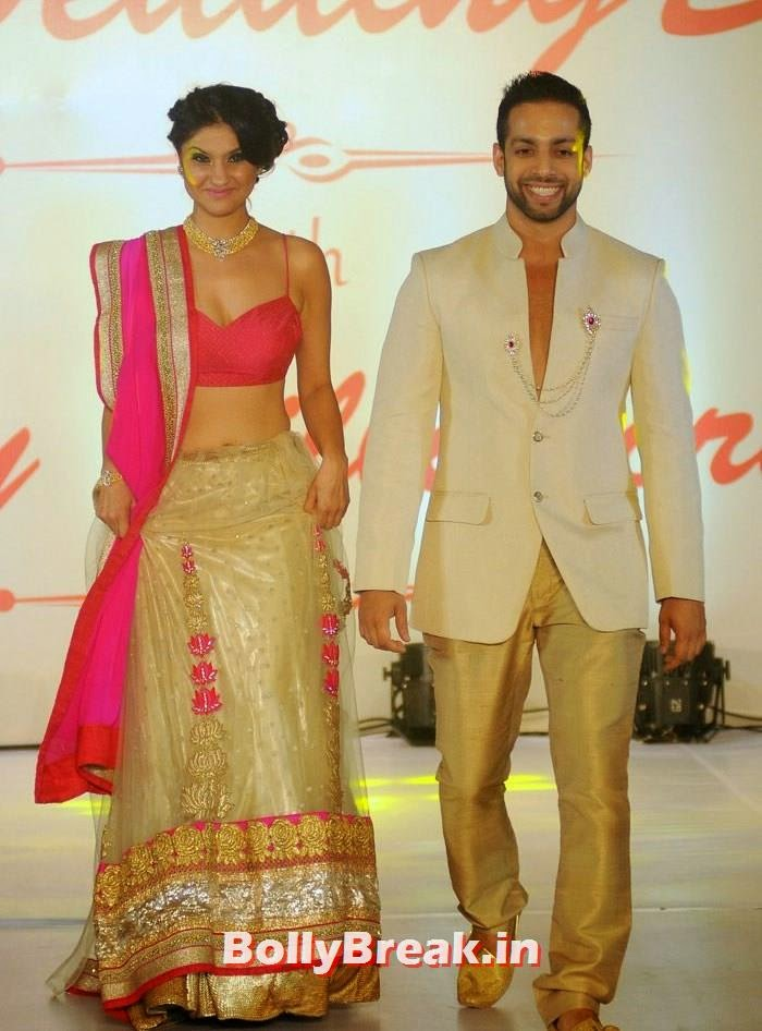 RJ Archana, RJ Salil, Amy Billimoria Fashion Show - The Big Fat Fashionable Wedding