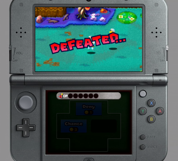 Mario & Luigi Superstar Saga + Bowser's Minions Minion Quest game over defeated