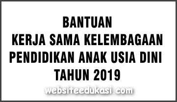 Juknis Bantuan Kerjasama Kelembagaan PAUD 2019