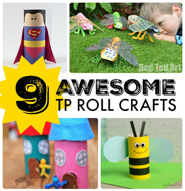 9 Toilet Paper Roll Crafts
