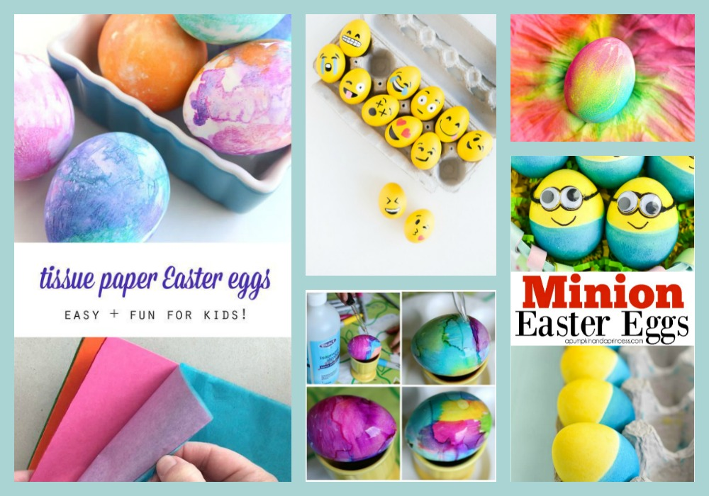Use Tissue Paper To Create Color Patterns On Eggs