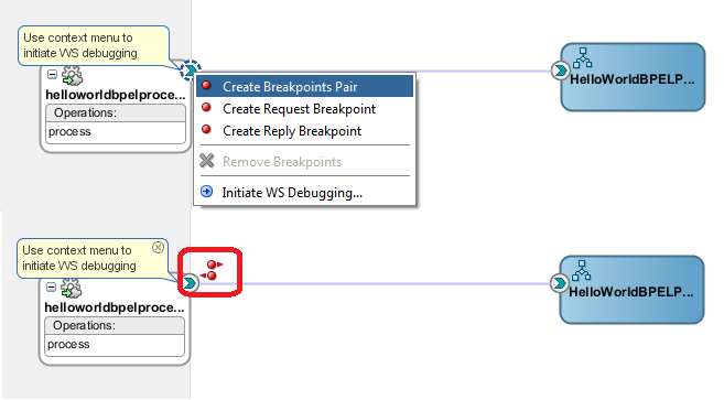 Oracle SOA 12c Breakpoints