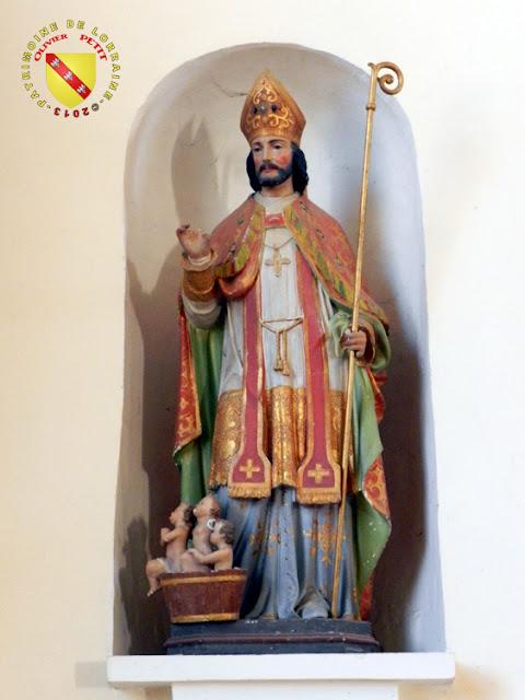 Saint-Nicolas (XIXe siècle) - Statue en pierre polychrome - Église de Viterne (54)