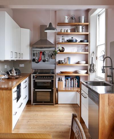 домашний интерьер маленькой кухни