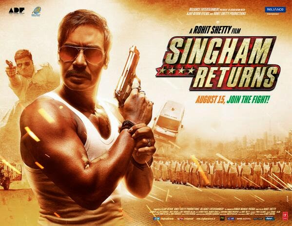 Ajay Devgan, Kareena Kapoor Singham Returns Movie Box Office wiki, Singham Returns is 2nd Biggest Film of 2014 in bollywood, budget, Box Office, Collectons Blog to Bollywood