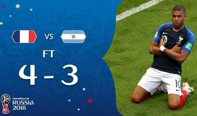 Hasil Perancis vs Argentina Skor Akhir 4-3   16 Besar World Cup 2018