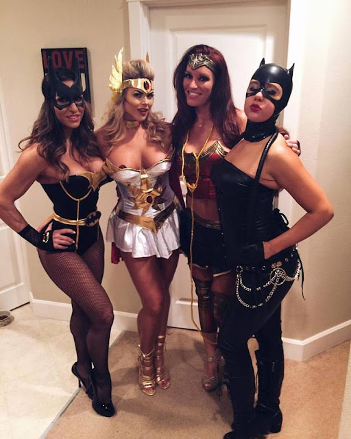 Sexy Ladies Superhero Halloween Costumes