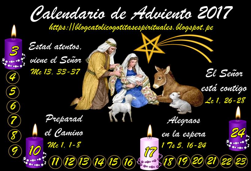 Santoral cat lico im genes de calendario de adviento 2017 for Calendario adviento 2017