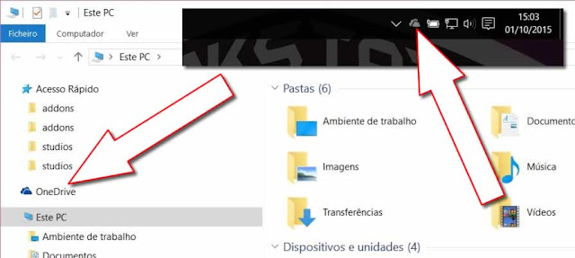 Onedrive, aplicativo integrado no sistema