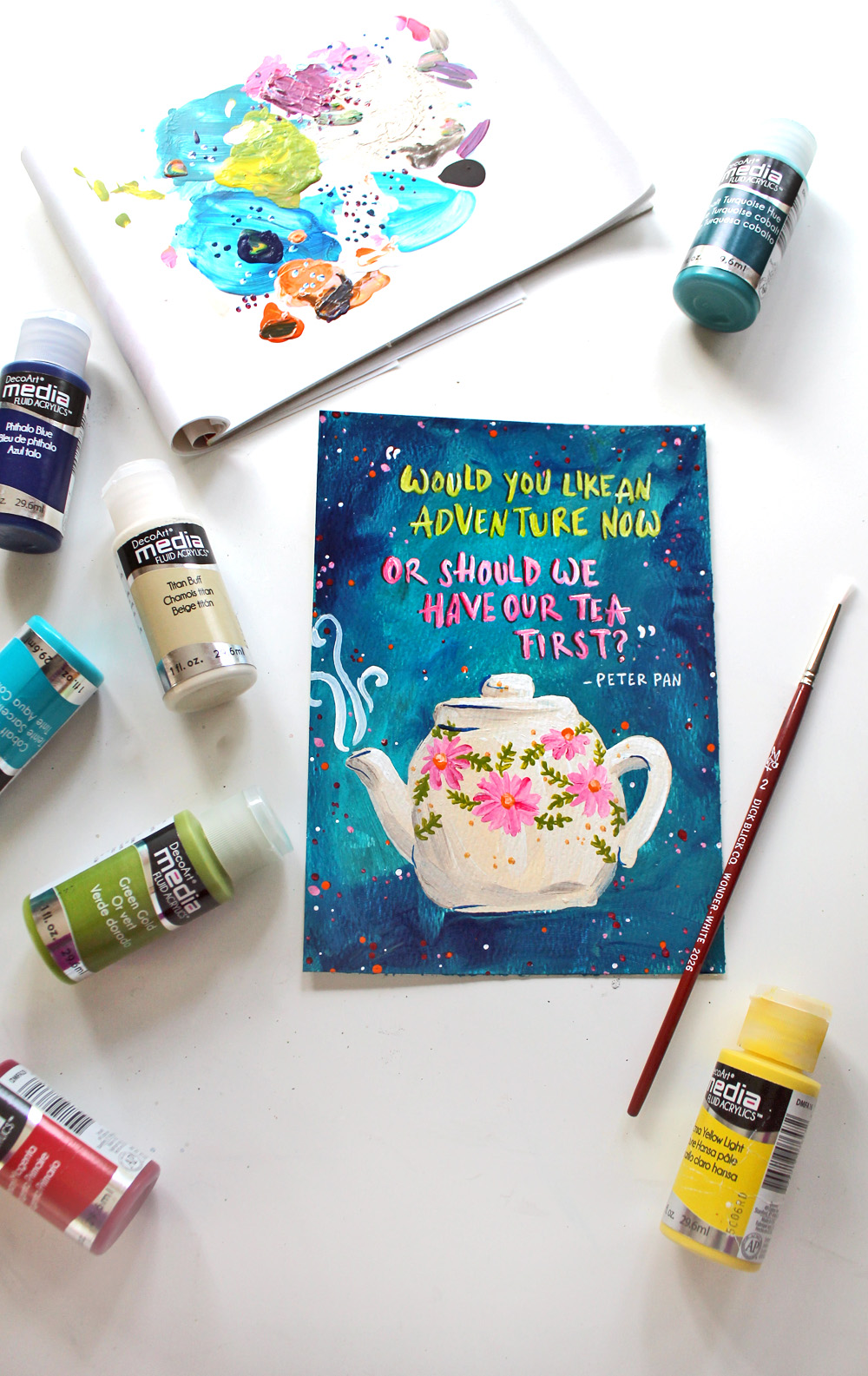 Tea Art Printable + Plum Deluxe Tea Review