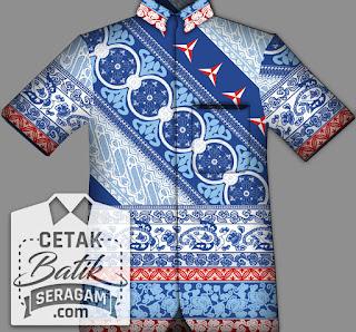 cetak batik seragam custom