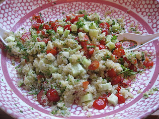 quinoa and tossed salad