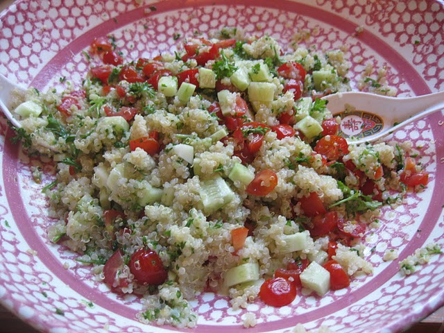 quinoa and tomatoes