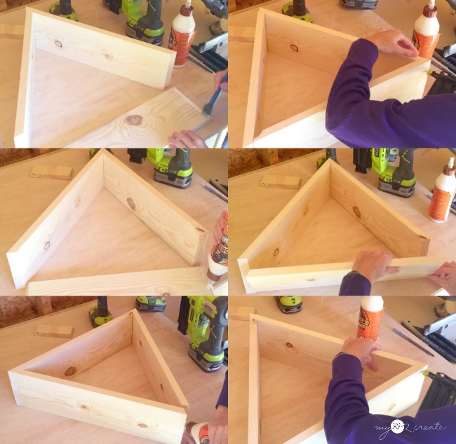 building triangle shelf