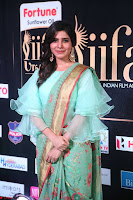 Samantha Ruth Prabhu Smiling Beauty in strange Designer Saree at IIFA Utsavam Awards 2017  Day 2  Exclusive 42.JPG