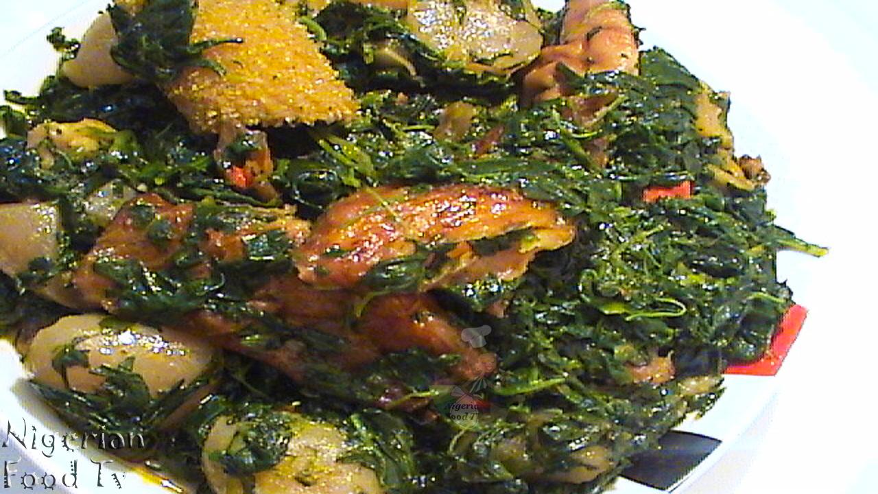 How To Cook Edikang Ikong Soup Edikaikong Soup Nigerian Food Tv
