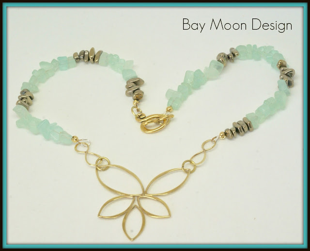 Lotus Flower Necklace by BayMoonDesign