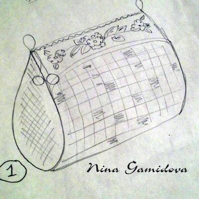 эскиз текстильной сумочки