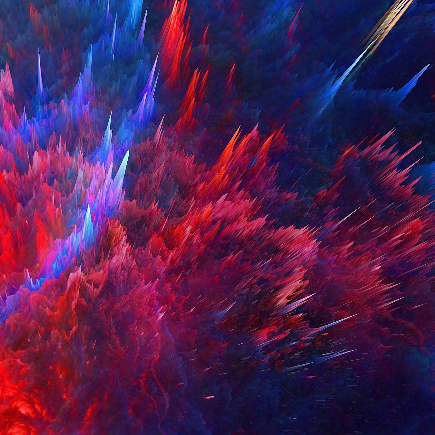 Colorful, Abstract, Wave, Illustration, Background, 4K