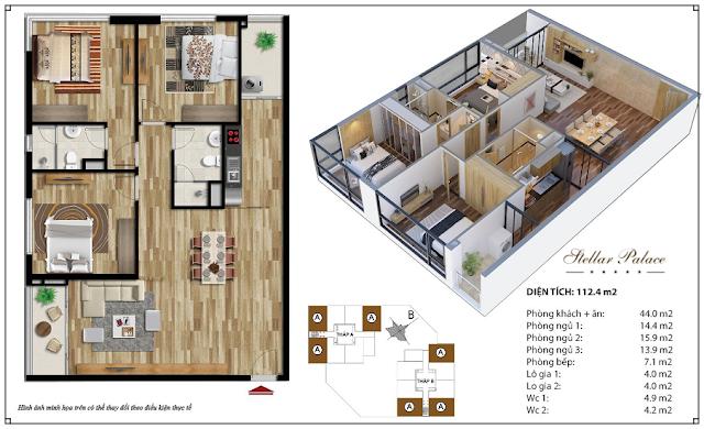 Chi tiết căn hộ chung cư 35 Lê Văn Thiêm