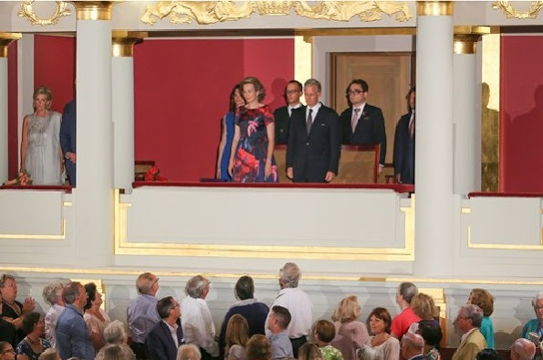 Queen Mathilde And King Philippe Attend A concert In Brussels