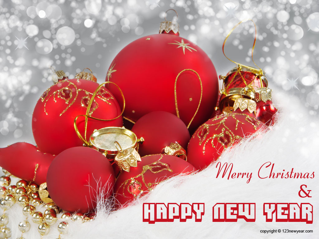50 Beautiful Merry Christmas And Happy New Year Pictures: Merry Christmas And New Year 2013 Wallpaper