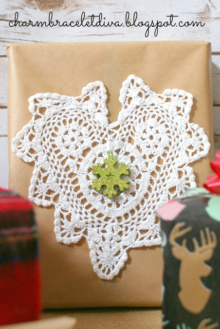 lace doily embellishment mini ornament
