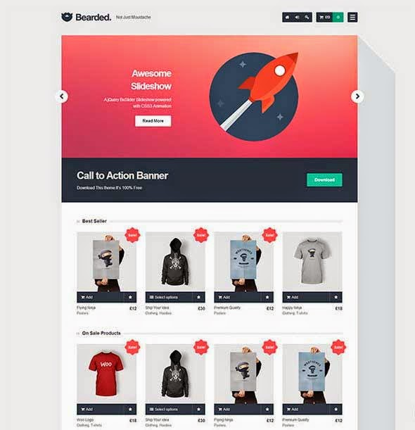 Bearded eCommerce WordPress Theme